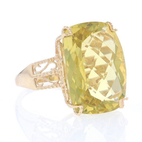 Yellow Gold Lemon Quartz Ring Image 2 Fox Fine Jewelry Ventura, CA