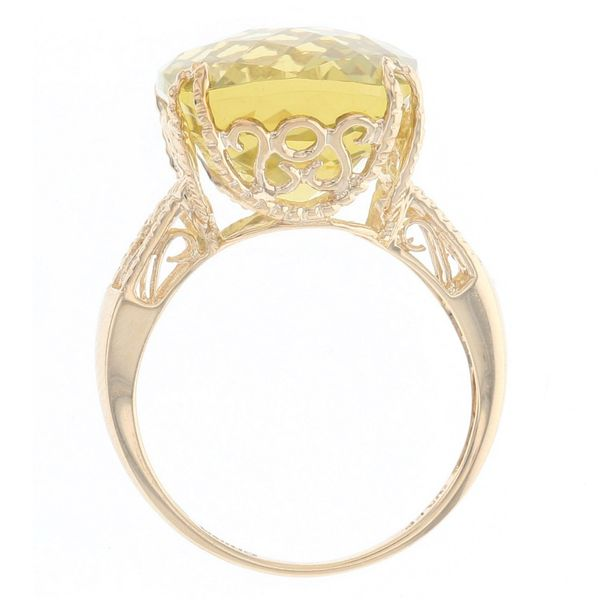 Yellow Gold Lemon Quartz Ring Image 3 Fox Fine Jewelry Ventura, CA