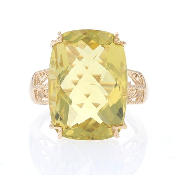 Yellow Gold Lemon Quartz Ring Fox Fine Jewelry Ventura, CA