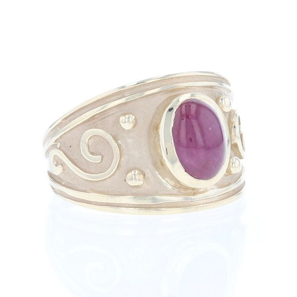 Cabochon Ruby Bezel Set Ring Image 2 Fox Fine Jewelry Ventura, CA