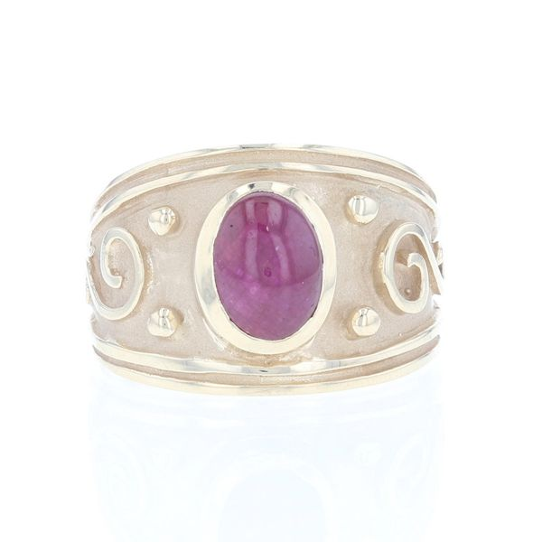 Cabochon Ruby Bezel Set Ring Fox Fine Jewelry Ventura, CA