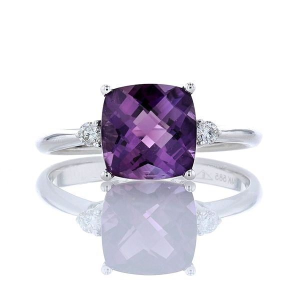 Cushion Amethyst & Diamond Ring Fox Fine Jewelry Ventura, CA