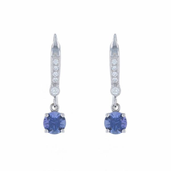 Purple Sapphire Diamond Earrings Fox Fine Jewelry Ventura, CA