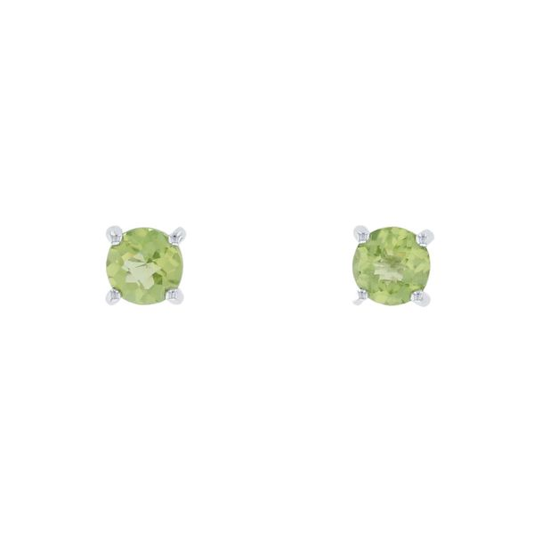 White Gold Peridot Stud Earrings Fox Fine Jewelry Ventura, CA
