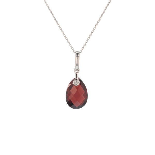 Checkerboard Garnet Diamond Pendant Fox Fine Jewelry Ventura, CA