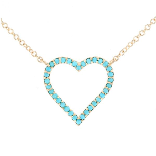 Turquoise Heart Necklace Fox Fine Jewelry Ventura, CA