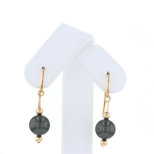 Faux Dark Pearl Dangle Earrings Fox Fine Jewelry Ventura, CA