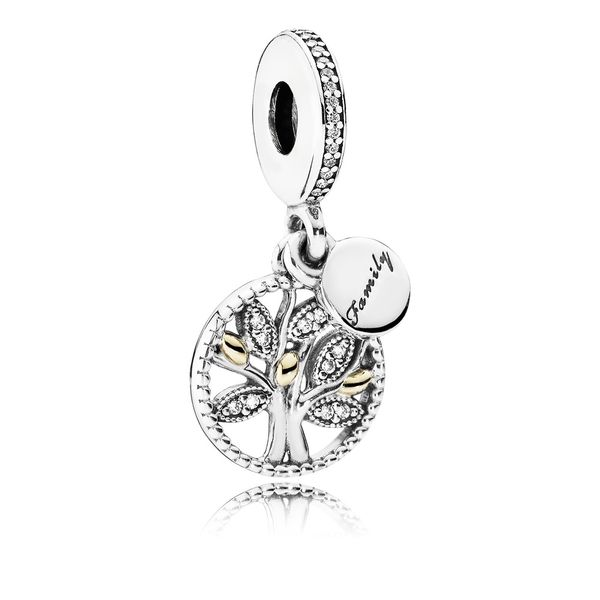 Pandora Sparkling Family Tree Dangle Charm in Two-Tone Fox Fine Jewelry Ventura, CA