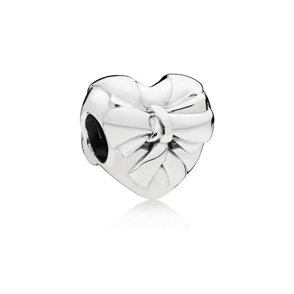 Pandora Polished Heart Bow Charm Fox Fine Jewelry Ventura, CA
