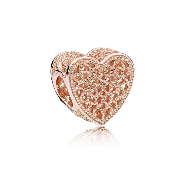 Pandora Filigree and Beaded Heart Charm in Pandora Rose Fox Fine Jewelry Ventura, CA