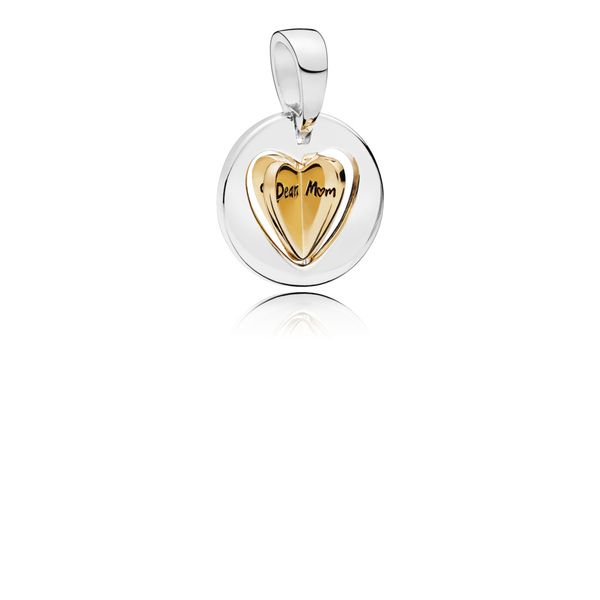 Pandora Shine Mom's Golden Heart Dangle Charm Fox Fine Jewelry Ventura, CA