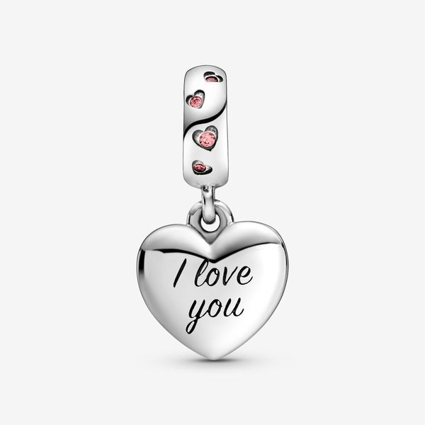 Pandora Mom Script Heart Dangle Charm Image 2 Fox Fine Jewelry Ventura, CA