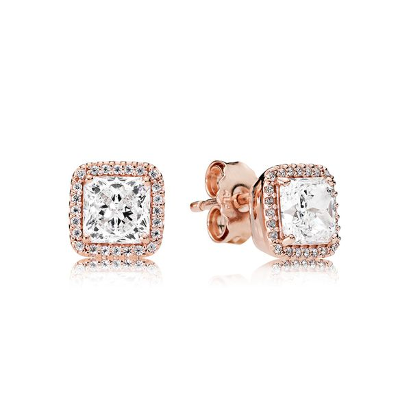 Pandora Timeless Elegance Stud Earrings in Pandora Rose Fox Fine Jewelry Ventura, CA