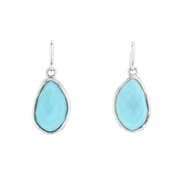 Reconstituted Turquoise Earrings Fox Fine Jewelry Ventura, CA
