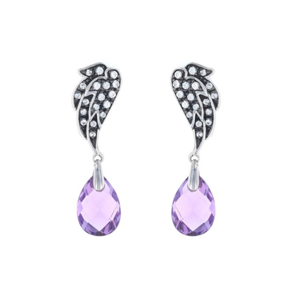 Amethyst Wing Dangle Earrings Fox Fine Jewelry Ventura, CA