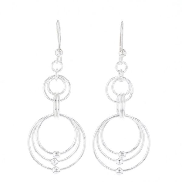 Interlocking Circle Dangle Earrings Fox Fine Jewelry Ventura, CA