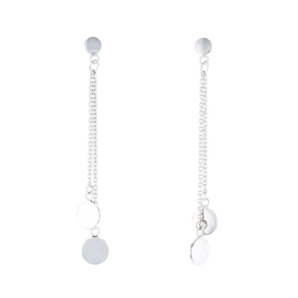 Silver Dangling Circle Earrings Fox Fine Jewelry Ventura, CA