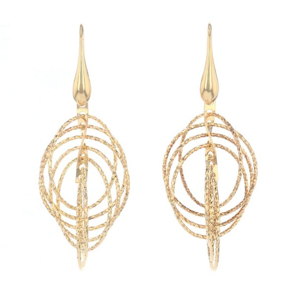 Gold Plated Circle Motion Earrings Fox Fine Jewelry Ventura, CA