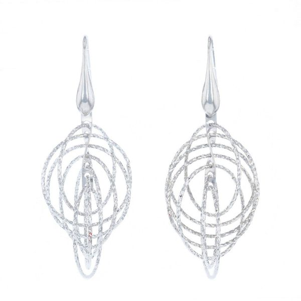 Sterling Silver Circle Motion Earrings Fox Fine Jewelry Ventura, CA