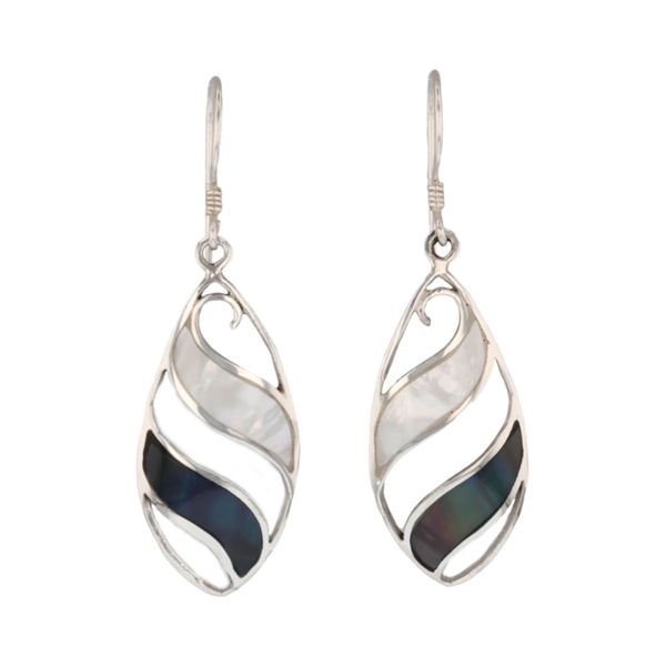 Mother of Pearl & Shell Dangle Earrings Fox Fine Jewelry Ventura, CA