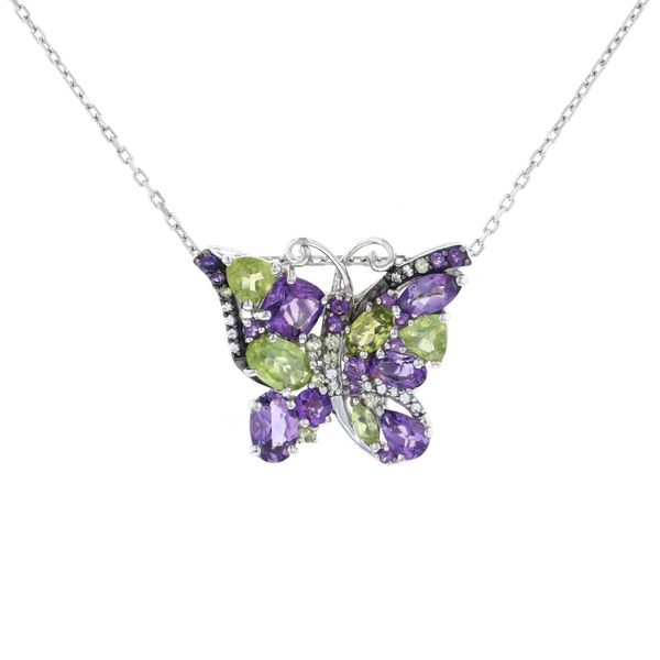 Peridot & Amethyst Butterfly Necklace Fox Fine Jewelry Ventura, CA