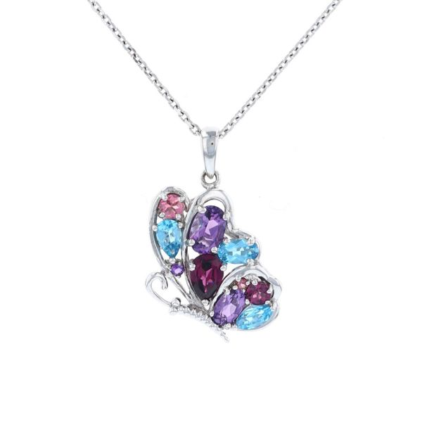 Multicolor Flying Butterfly Necklace Fox Fine Jewelry Ventura, CA