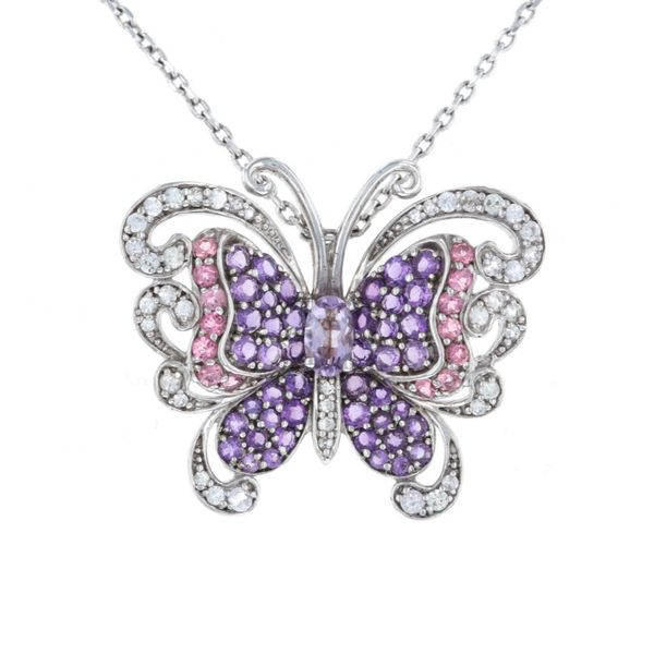 Silver Amethyst Butterfly Necklace Fox Fine Jewelry Ventura, CA