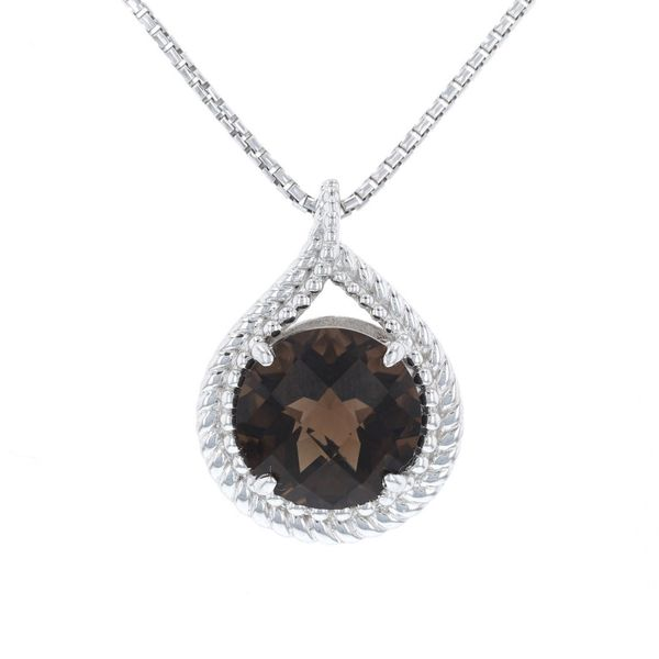 Smoky Quartz Rope Halo Necklace Fox Fine Jewelry Ventura, CA