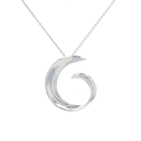 Large Silver Twist Wave Necklace Fox Fine Jewelry Ventura, CA