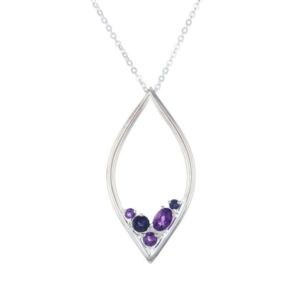 Amethyst & Iolite Marquise Necklace Fox Fine Jewelry Ventura, CA