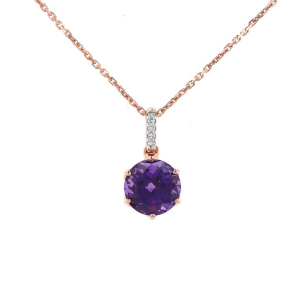 Rose Plated Amethyst & Diamond Necklace Fox Fine Jewelry Ventura, CA
