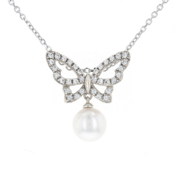 Freshwater Pearl Butterfly Necklace Fox Fine Jewelry Ventura, CA