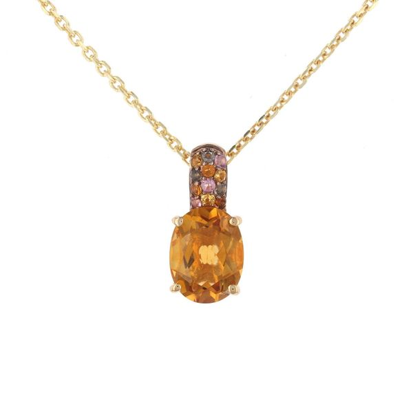 Multi-Color Oval Citrine Necklace Fox Fine Jewelry Ventura, CA