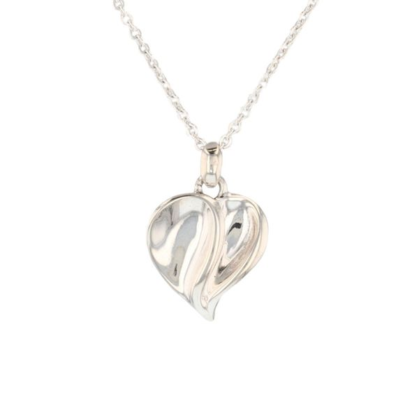 Petite Contrast Finish Heart Necklace Fox Fine Jewelry Ventura, CA