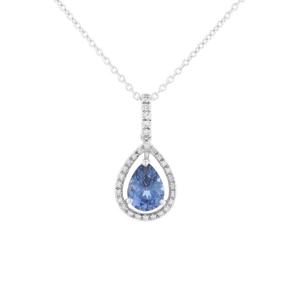 Diamond & Created Blue Sapphire Necklace Fox Fine Jewelry Ventura, CA