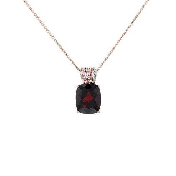 Garnet & Morganite & Diamond Necklace Fox Fine Jewelry Ventura, CA