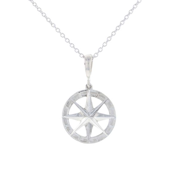 Silver Compass Rose Necklace Fox Fine Jewelry Ventura, CA
