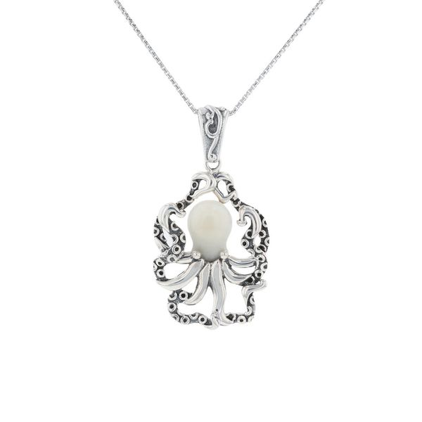 Silver Tagua Nut Octopus Necklace Fox Fine Jewelry Ventura, CA