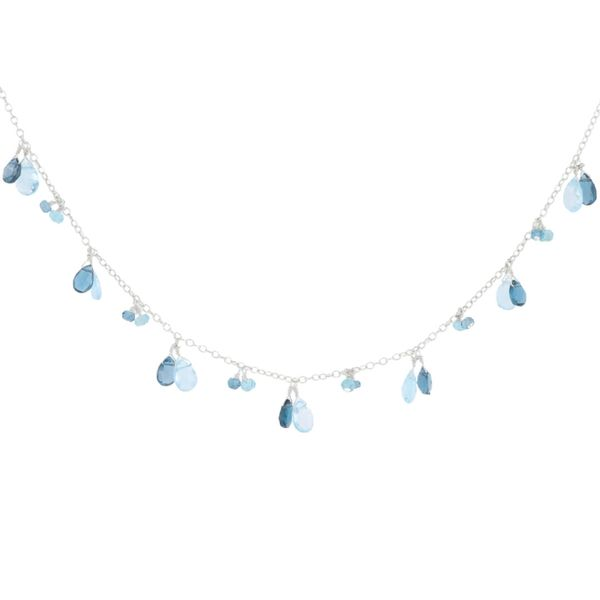 Briolette London & Sky Blue Topaz Necklace Fox Fine Jewelry Ventura, CA