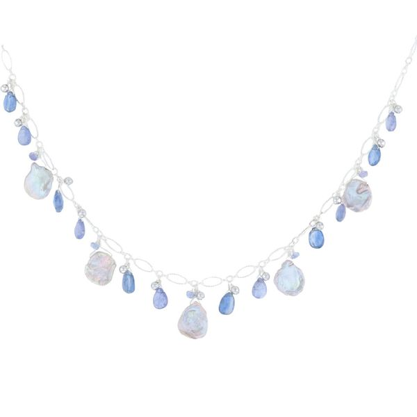Keshi Pearl & Briolette Tanzanite Necklace Fox Fine Jewelry Ventura, CA