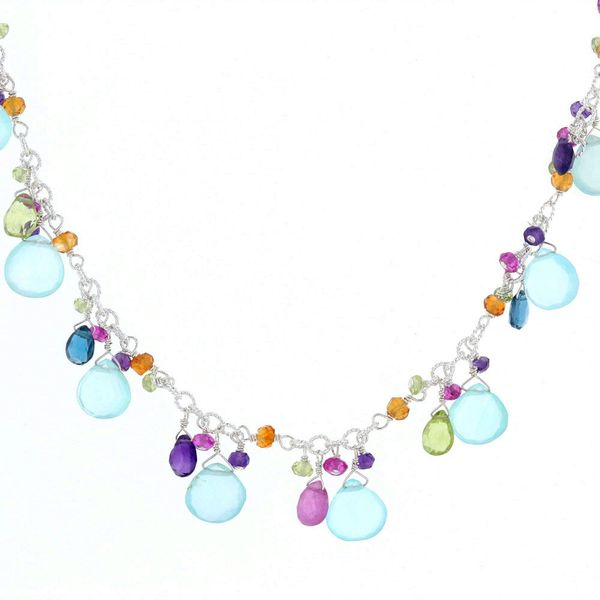 Multi-Color Briolette Necklace Fox Fine Jewelry Ventura, CA