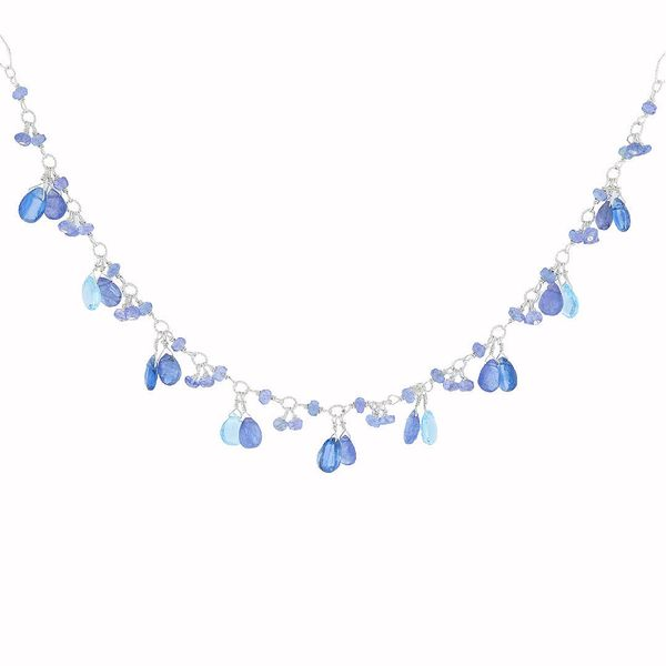 Briolette Tanzanite & Blue Topaz Necklace Fox Fine Jewelry Ventura, CA