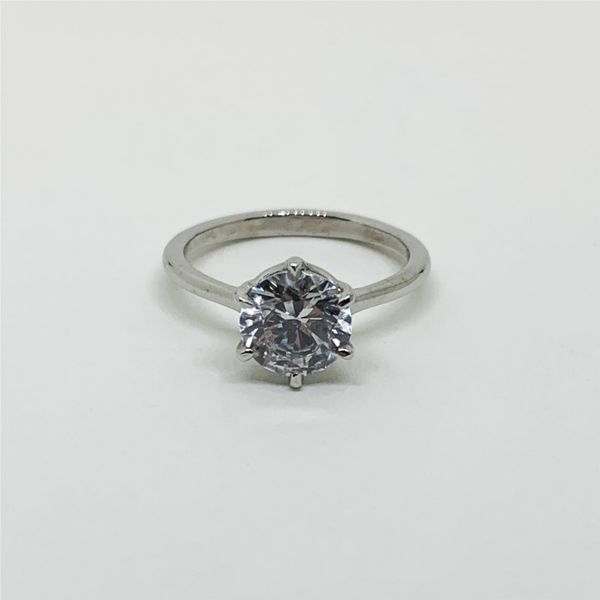 6-Prong Solitaire Platinum Engagement Ring Image 2 Franzetti Jewelers Austin, TX