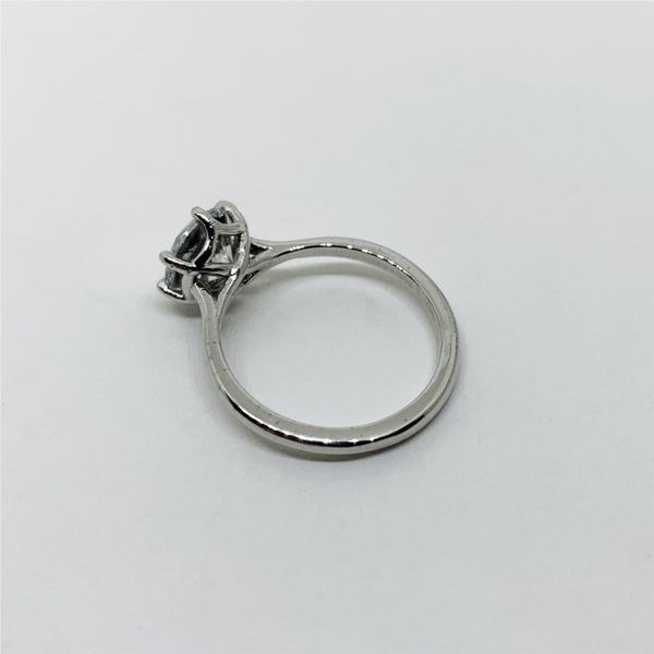 6-Prong Solitaire Platinum Engagement Ring Image 3 Franzetti Jewelers Austin, TX