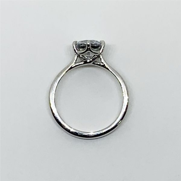 6-Prong Solitaire Platinum Engagement Ring Image 4 Franzetti Jewelers Austin, TX