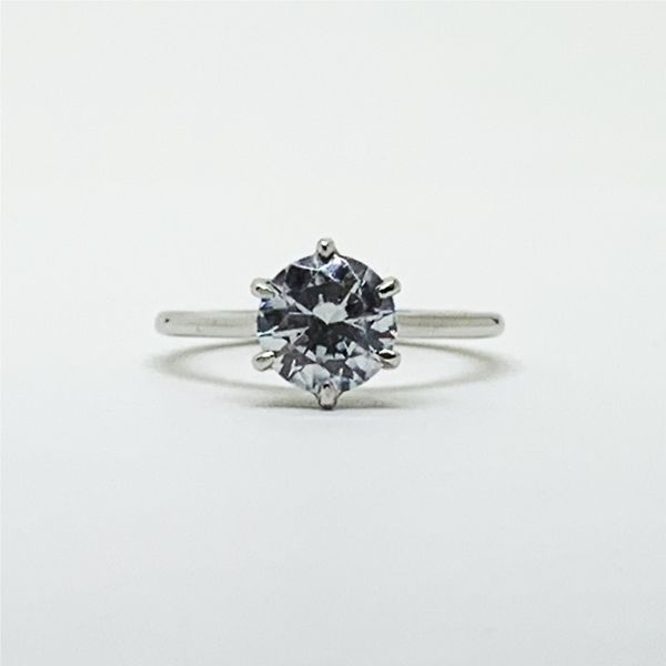 6-Prong Solitaire Platinum Engagement Ring Franzetti Jewelers Austin, TX