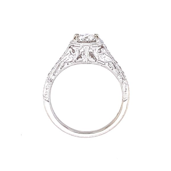 14KW Gold Antique Style Diamond Engagement Ring Image 5 Franzetti Jewelers Austin, TX