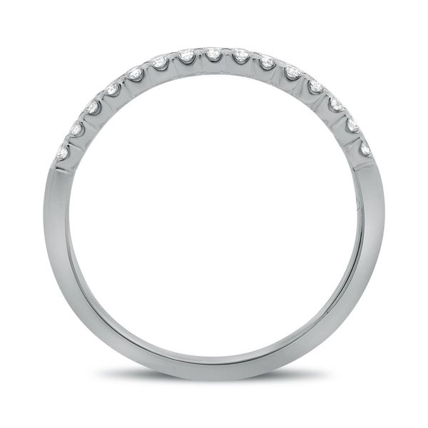 White Gold Fishtail Half Pave Band Image 2 Franzetti Jewelers Austin, TX