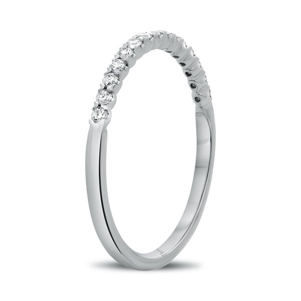 White Gold Fishtail Half Pave Band Image 3 Franzetti Jewelers Austin, TX
