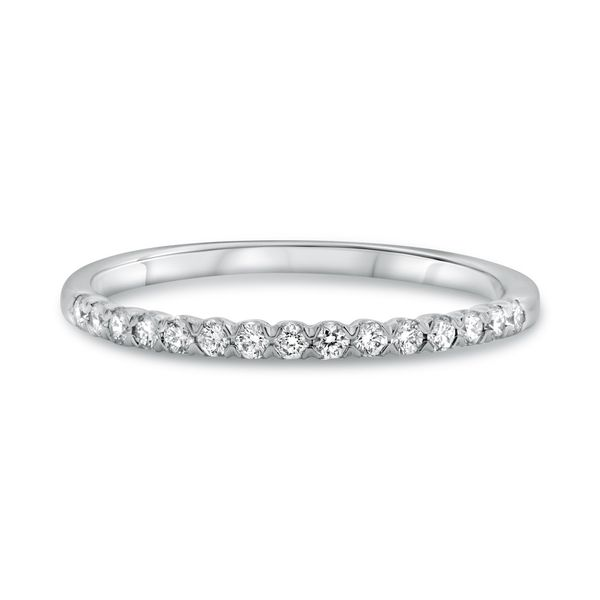 White Gold Fishtail Half Pave Band Franzetti Jewelers Austin, TX